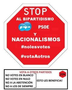 Stop PPSOE y nacionalismos