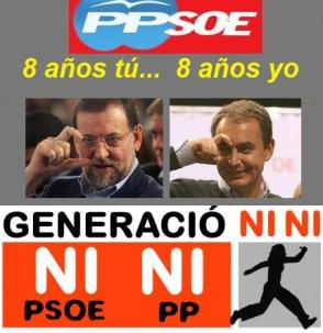 Generación NINI ni PP ni PSOE 8 años cada uno