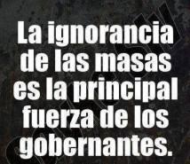 La ignorancia de las masas