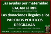 Las donaciones ilegales desgravan