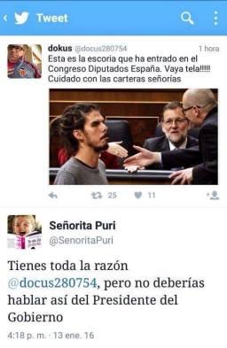 Señorita Puri. Rasta y Rajoy