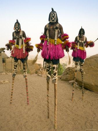 Danzas rituales con máscaras dogon (Malí, África)