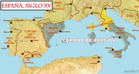 mapaEspana siglo XV